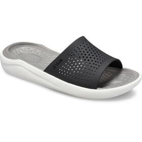 Crocs LiteRide Tøfler, sort/hvid